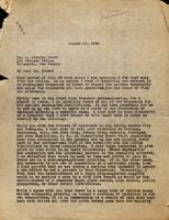 Copy of letter from Harold A. Lett to Dr. L. Greeley Brown