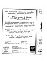 Advertisement from United Jewish Federation of MetroWest