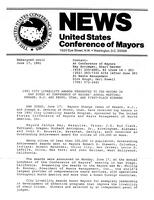 1991 City Livability Awards Presented to Ten Mayors in San Diego at Conference of Mayors' Annual Meeting; Newark, N.J. and Provo, Utah, are First-Place Winners