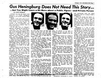 Gus Heningburg Article