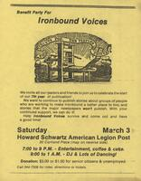 """Ironbound Voices"" Newspaper Party"