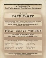 Card party fundraiser