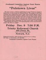 "Flier for the movie ""Poletown"""