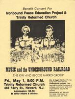 "Flier for Kim & Reggie Harris ""Underground Railroad"" Concert"