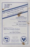 35th Annual Awards dinner of The Community Service Committee Essex- West Hudson Labor Council, AFL-CIO.