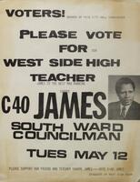 West Side High Students say: Please Elect Sharpe James!
