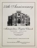 54th Anniversary of Metropolitan Baptist Church