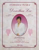 A Celebration of the Life of Dorothea Lee