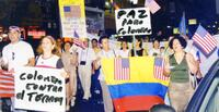Columbian protest