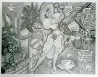 Photo of drawing representing Cuban culture