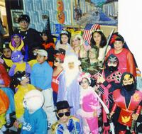 Group at a costume party