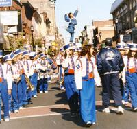 Band marching in parade