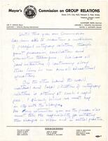 Handwritten note to Mayor Carlin