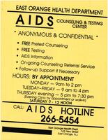 East Orange Health Department Flier