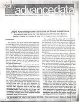 AIDS Knowledge and Attitudes of Black Americans: Provisional Data from the 1988 National Health Interview Survey