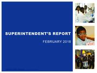 Superintendent's Report - Feb 2018