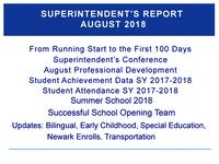 Superintendent's Report - August 2018