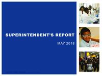 Superintendent's Report - May 2018