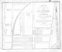 """Map of 154 Building Lots in the City of Newark, late the property of Aaron Ward esq. to be sold at auction by John J. Plume on May 26th September 1836"""