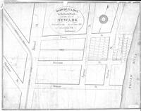 """Map of 37 Lots in the North Ward of the City of Newark to be sold on the ___ day of June 1836 at 2 o'clock PM by ___ Auctioneer"""