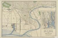 """Port of Newark - Newark Bay a Passaic River - showing channels a facilities from Union County Line to Belleville, NJ"""