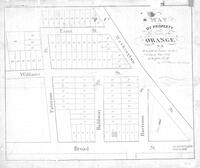 """Map of Property in the Town of Orange, NJ to be sold at Action on the 7th day of May 1836 at 2 o'clock PM by J.L. Plume Auctioneers"""