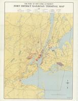 """The Port Authority of New York Port District Railroad Terminal Map"""