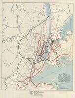 """Map of the Comprehensive Plan as filed in the offices of the secretaries of state at Albany NY and Trenton NJ. In compliance with Chapter 43 laws of New York, 1922, Chapter 9 laws of New Jersey and the resolution of congress approving of the plan and aut"