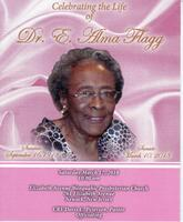 Alma Flagg Funeral Program