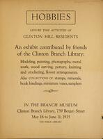 Hobbies, leisure time activities of Clinton Hill residents