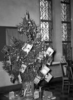 Weequahic High School Christmas Tree in Library