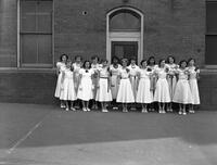 Garfield School Girl Graduates (Made Own Dresses) 8-A Class Miss Sarah G. McNicol