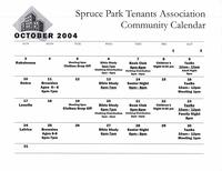 Spruce Park Tenants Association Community Calendar