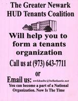 The Greater Newark HUD Tenants Will Help you to Form a Tenants Organization