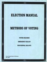Election Manual: Methods of Voting