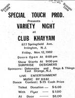 Variety Night at Club Khayyam
