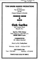 Fashion Show and Disco at Club Caribe