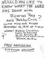 Would you like to know what the Lord has done with Ricardo Ray and Bobby Cruz?