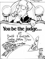 You Be The Judge at the David & Goliath Spring Affair Disco