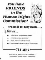 You have Friends in the Newark Human Rights Commission