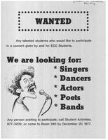 We Are Looking for Singers, Dancers, Actors, Poets, Bands