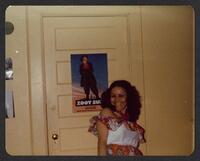 Woman at Club Posing with Zoot Suit Poster