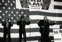 Ray Goodman and Brown performing at a Sharpe James rally in Atlantic City.