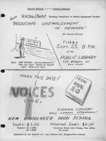 """Reducing Unemployment"" Lecture and Voices Inc. Benefit"